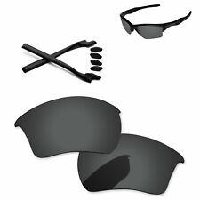 PapaViva Negro Polarizado Lentes De Repuesto Para-Oakley Jacket 2.0 XL OO9154 Half
