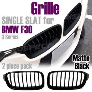 NEW MATT Front Grille For BMW F30 F31 Black 2011-2015 UK STOCK