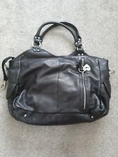 Isoki Black Leather Changing Bag