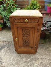 French Vintage Marble Art Deco Pot Cupboard Cabinet Storage Unit