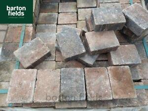 Tumbled Cobble Paving Setts in Harvest Colour, 105x140x50mm, Ideal Edging Blocks