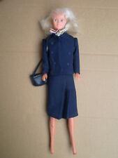 "Vintage Tanya Britannia Airlines Cabin Crew Flight Airways Hôtesse 12"" Doll"