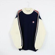 Vintage 90's Navy & Cream Teddy Smith Jumper Sweatshirt Sweater Beige | XL