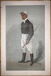 "Original Vanity Fair Spy Print ""Rick"" Fred Rickaby Jockey Horse racing- Rare"