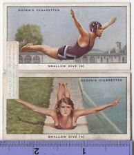 Swallow Dive Swimming Pool Water Board Lot of 2 85+ Y/O Ad Trade Cards 3