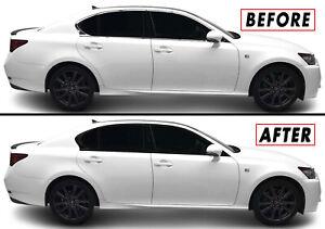 Chrome Delete Blackout Overlay for 2013-20 Lexus GS 300 350 450h F Window Trim