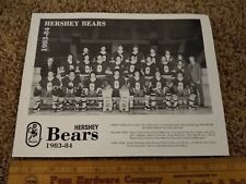 1983-84 Hershey Bears AHL Hockey Team Picture - Arena Giveaway