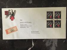 1943 Prague BM Germany Registered Cover Red Cross Semi Postals Cachet