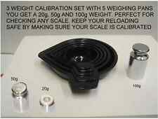 SCALE CALIBRATION KIT WITH 3 WEIGHTS AND 5 PC SET MEASURING PANS