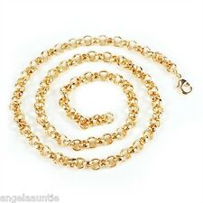 18K Yellow Gold Filled Belcher Chain Necklace (N-173)