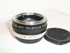 TELEPLUS 2X TELECONVERTER with CAPS  for KONICA SLRs ( M EE )