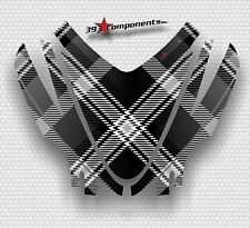 Arctic Cat M7 M8 M1000 Crossfire 05 - 11 Graphics Hood Decal Kit Plaid Black