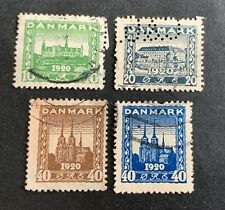 Denmark 🇩🇰 1920 - 4 used stamps - Michel No. 110, 111, 112, 115