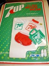 NOS NEW 7 UP 11 1/2 inch Active Wear Clothing 1987 Barbie #6020 red shorts