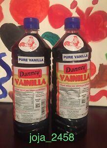 Danncy Pure Dark Mexican Vanilla Extract 2 x 1 Liter Bottles, FREE PRIORITY SHIP