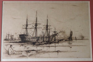 DY Cameron  'The Old Revenge' – Marine Etching Sailing Ships David Young Cameron