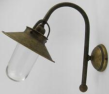 Lampada da parete ottone brunito vetro per esterni applique ANTICO STILE COUNTRY
