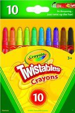 Crayola 9715 Twistables Crayons 10 Pack Colors Art School NEW!
