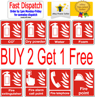 Fire Extinguisher CO2 Water Foam Dry Powder Alarm Telephone Point Stickers Sign