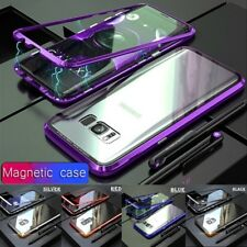 Magnetic Absorption Metal Tempered Glass Back Case For Samsung Galaxy S9 S8 Plus