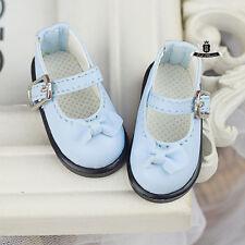 MSD Shoes 1/4 BJD Shoes Supper Dollfie bow lolita shoes DOD AOD SOOM MID #Blue