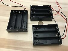 3 Pieces--- three 3 slots  18650 Battery Clip Holder Box Case Wire Lead 3.7V C21