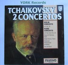 6570 028 - TCHAIKOVSKY - Piano & Violin Concertos DE WAART - Ex Con LP Record
