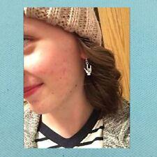 Beautiful I LOVE YOU (Sign Language) Silver Dangle Earrings.