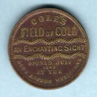 Australia - Coles Token. Be Good / Field of Gold.. Gilt,31mm.  VF/gVF