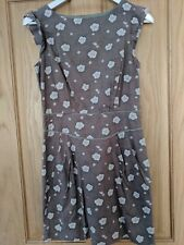 Emily And Fin Grey Floral Print Tea/Shift Dress, Size S (8-10)