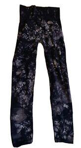 Free People Movement High-Rise Good Karma Leggings Size XS Blue Tie Dye
