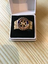 Solid 9ct Gold Rotary International Ring .