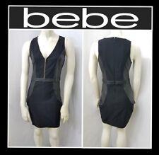 bebe JESSIE COATED SCUBA DRESS BODYCON CLUB SEXY COCKTAIL SZ S (NEW) MSRP $79