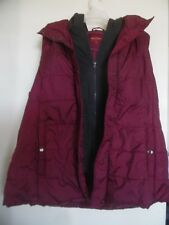 ARIZONA  QUILTED WINTER HOODED  VEST JACKET!  MAROON! SIZE XXL