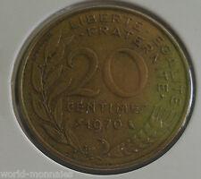 20 centimes marianne 1970 : TTB : pièce de monnaie française