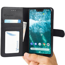 Black Wallet Flip Cover Case for Google Pixel 3 XL / 3xl Phone - by Abacus24-7