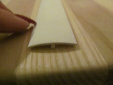 "2 @ 8 Ft OFF White Rigid Plastic 1"" Ceiling Sidewall Batten Trim RV Trailer"