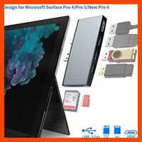 Surface Pro USB Hub Adapter Docking Station 3.0 HDMI 6 In 1 Dongle W 4K To 3 Por