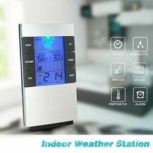Indoor Room LCD Temperature Humidity Meter Digital Thermometer Alarm Clock