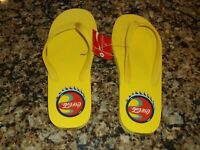 Women's Coca-Cola Slides Sandals L 9-10  Footwear Flip Flops Coke 1994 YELLOW