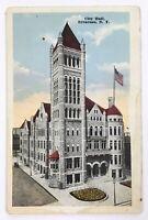 Postcard Syracuse NY City Hall Building Street View New York 1900's 1910's