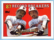 1988 Topps Eddie Murray '87 Record Breakers plus 2010 reprint C@@L lot - 2 cards