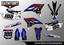FOR YAMAHA YZF 250 10 - 13 FULL CUSTOM KIT GRAPHICS STICKERS MOTOCROSS DECALS MX