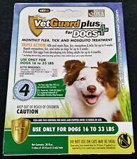 VetGuard Plus 4 Month Flea Tick & Mosquito Treatment Medium Dog 16-33 lbs New