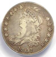 1807 Capped Bust Half Dollar 50C Coin 50/20 O-112 Coin - Certified ANACS VF20!