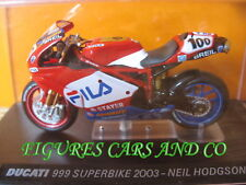MOTO 1/24 COLLECTION DUCATI  999 SUPERBIKE 2003 NEIL HODGSON  MOTORCYCLE