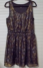 BY & BY SUMMER DRESS BY JC PENNY BLACK AND GOLD SIZE XL