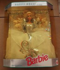 1992 HAPPY HOLIDAYS BARBIE ~ Barbie Collector ~ White & Silver Dress ~ NIP