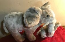 Vintage 1979 R. Dakin Stuffed PLUSH ELEPHANT Mother & Baby SET with tags