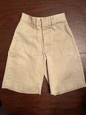 Austin Clothing Company Boys Size 7s Slim Flat Front Kahaki Shorts (Uniform)
